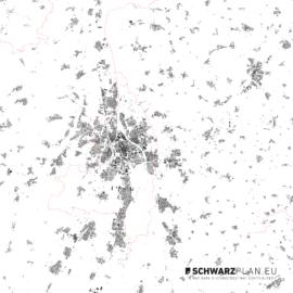 Schwarzplan von Augsburg