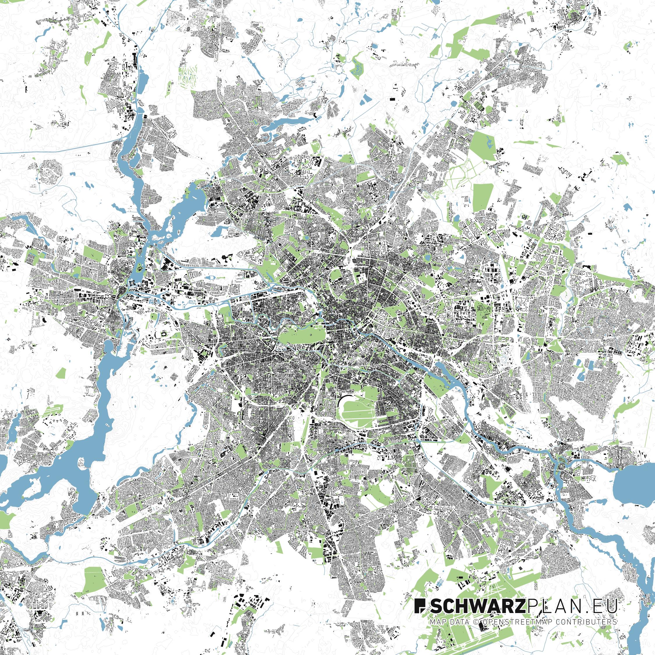 Lageplan von Berlin