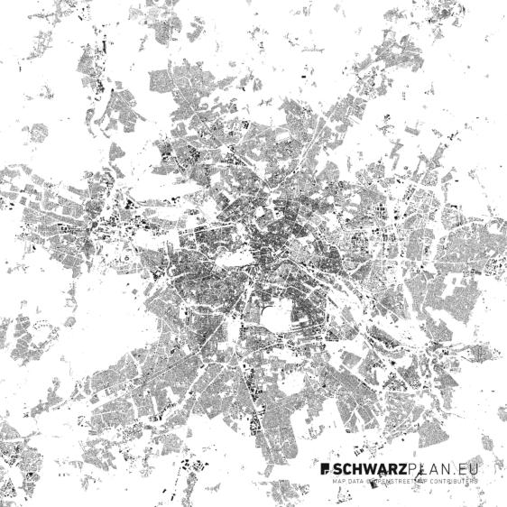 Schwarzplan von Berlin