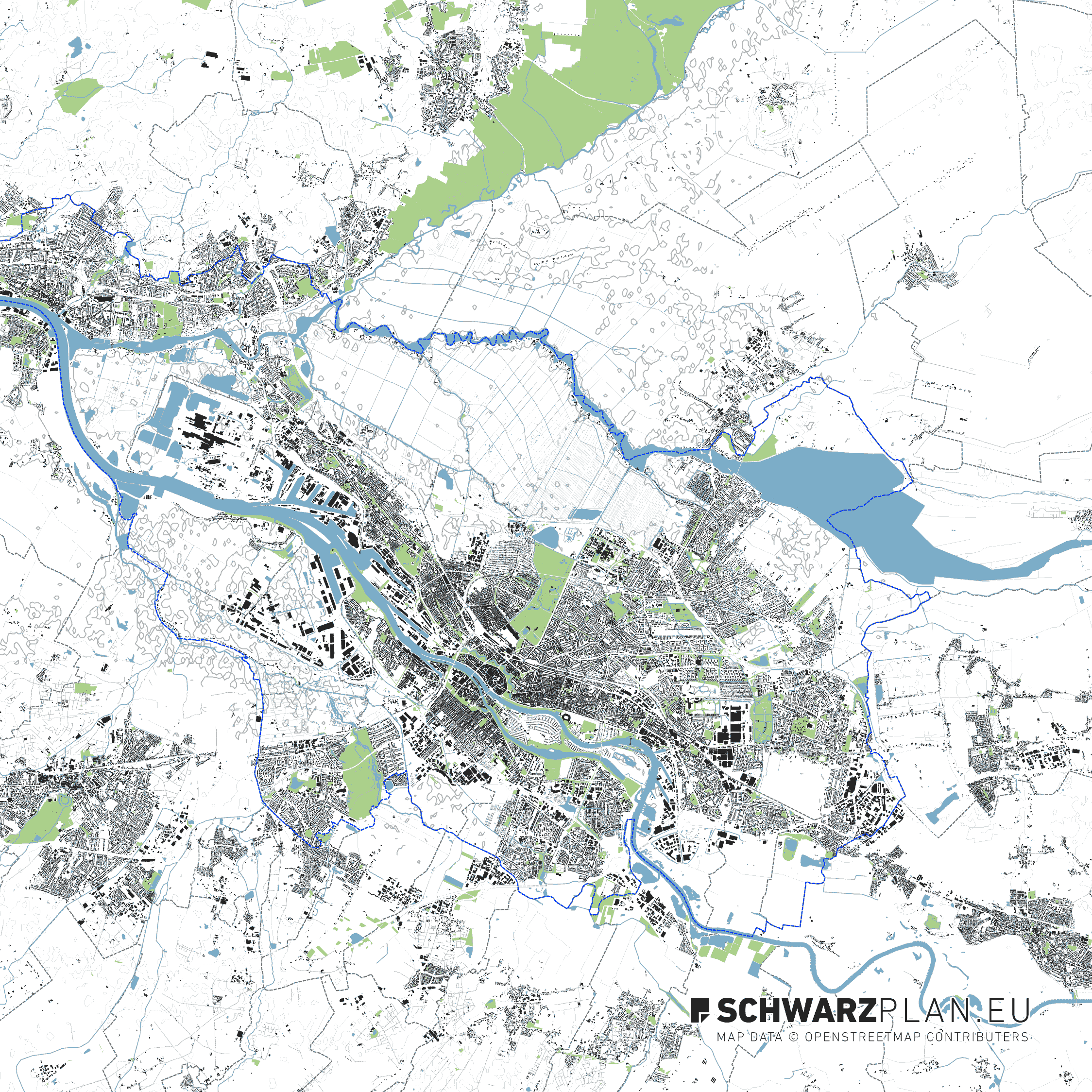 Lageplan von Bremen