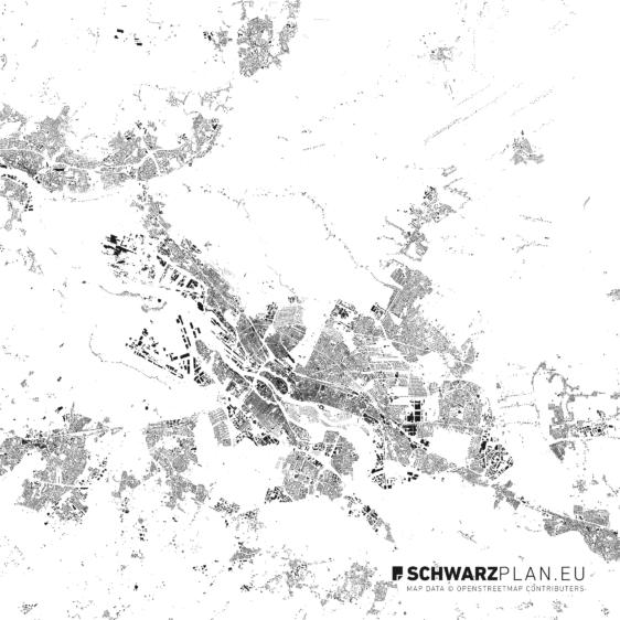 Schwarzplan von Bremen