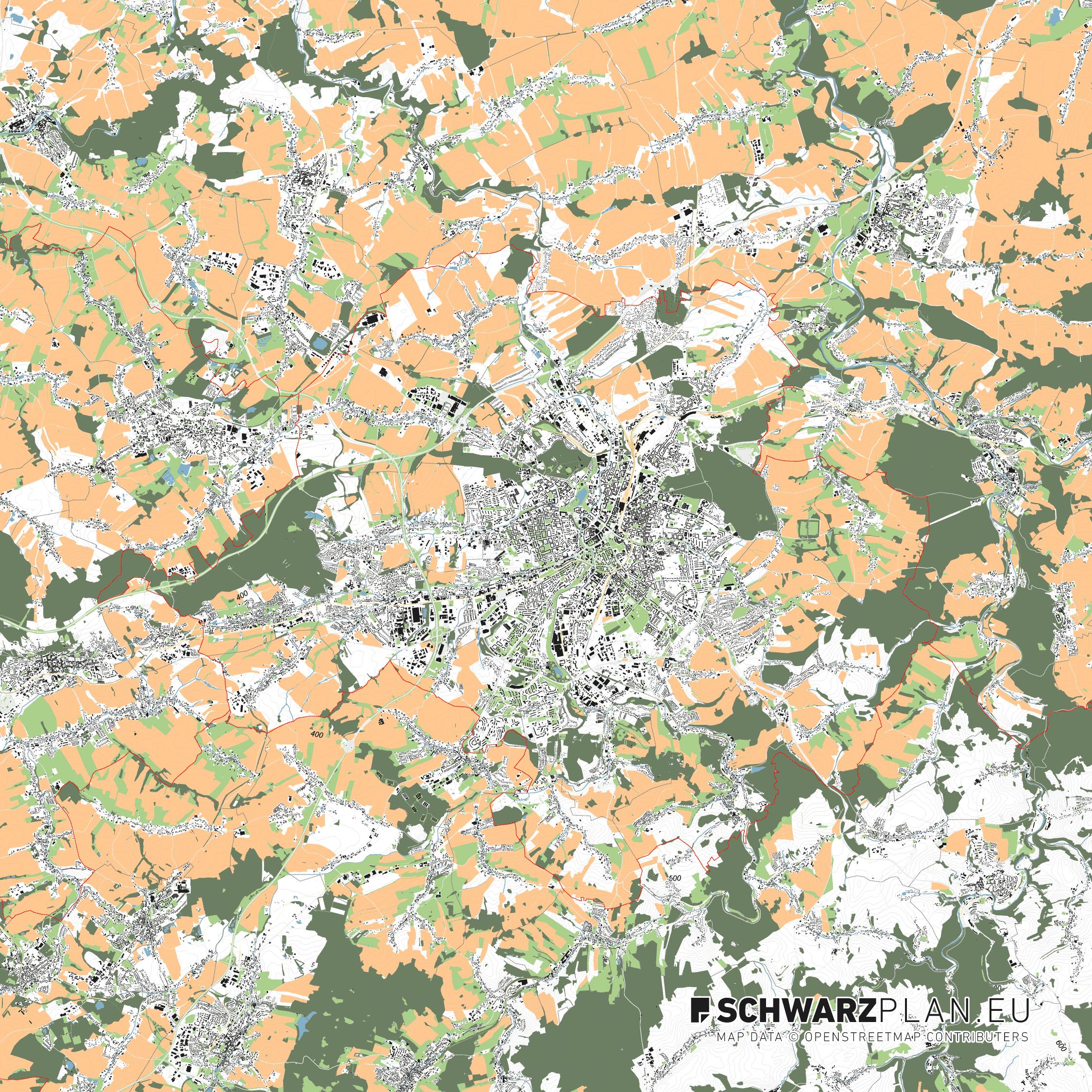 Lageplan von Chemnitz