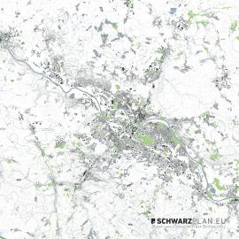 Lageplan von Dresden