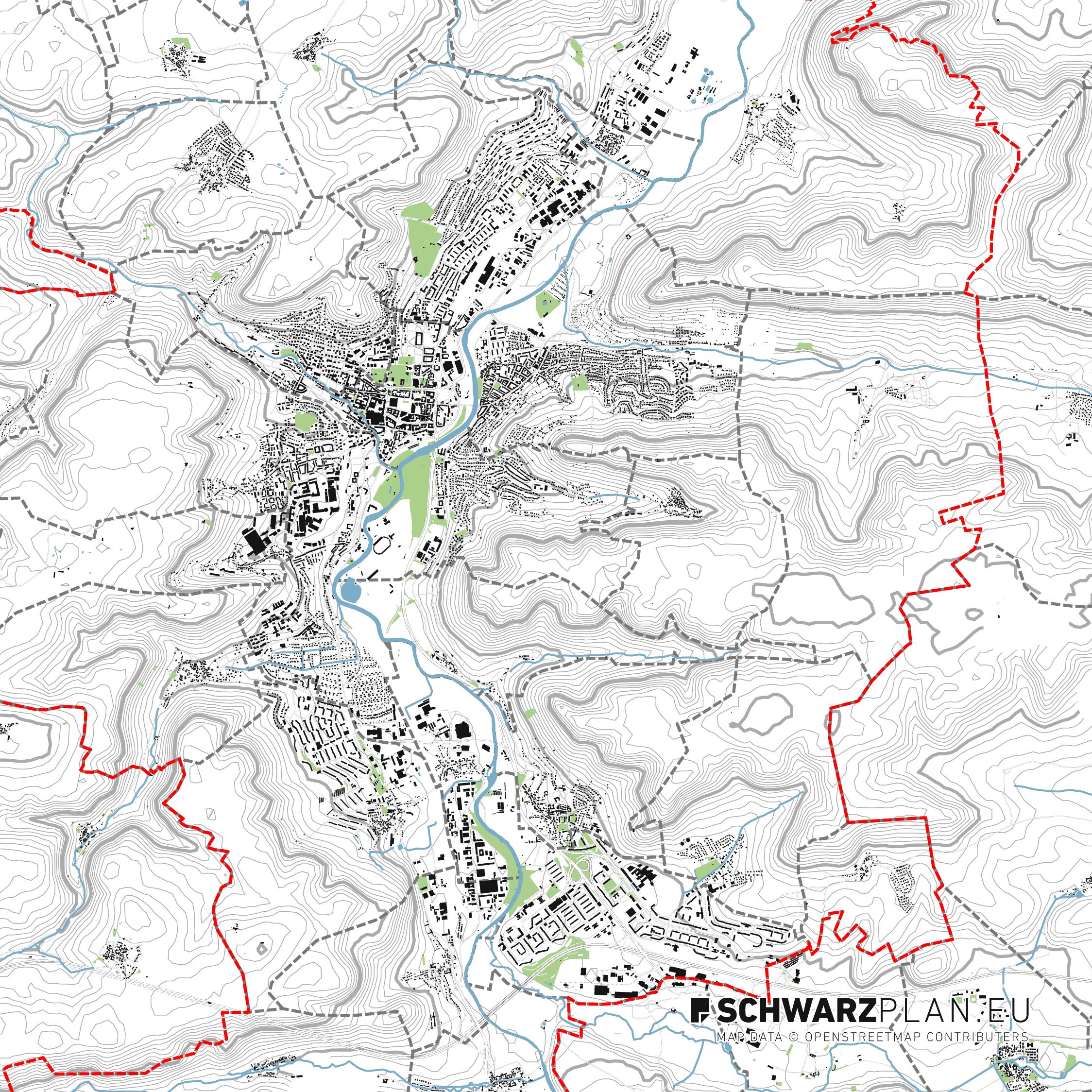 Lageplan von Jena