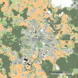 Lageplan von Kassel