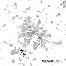 Schwarzplan von Kassel