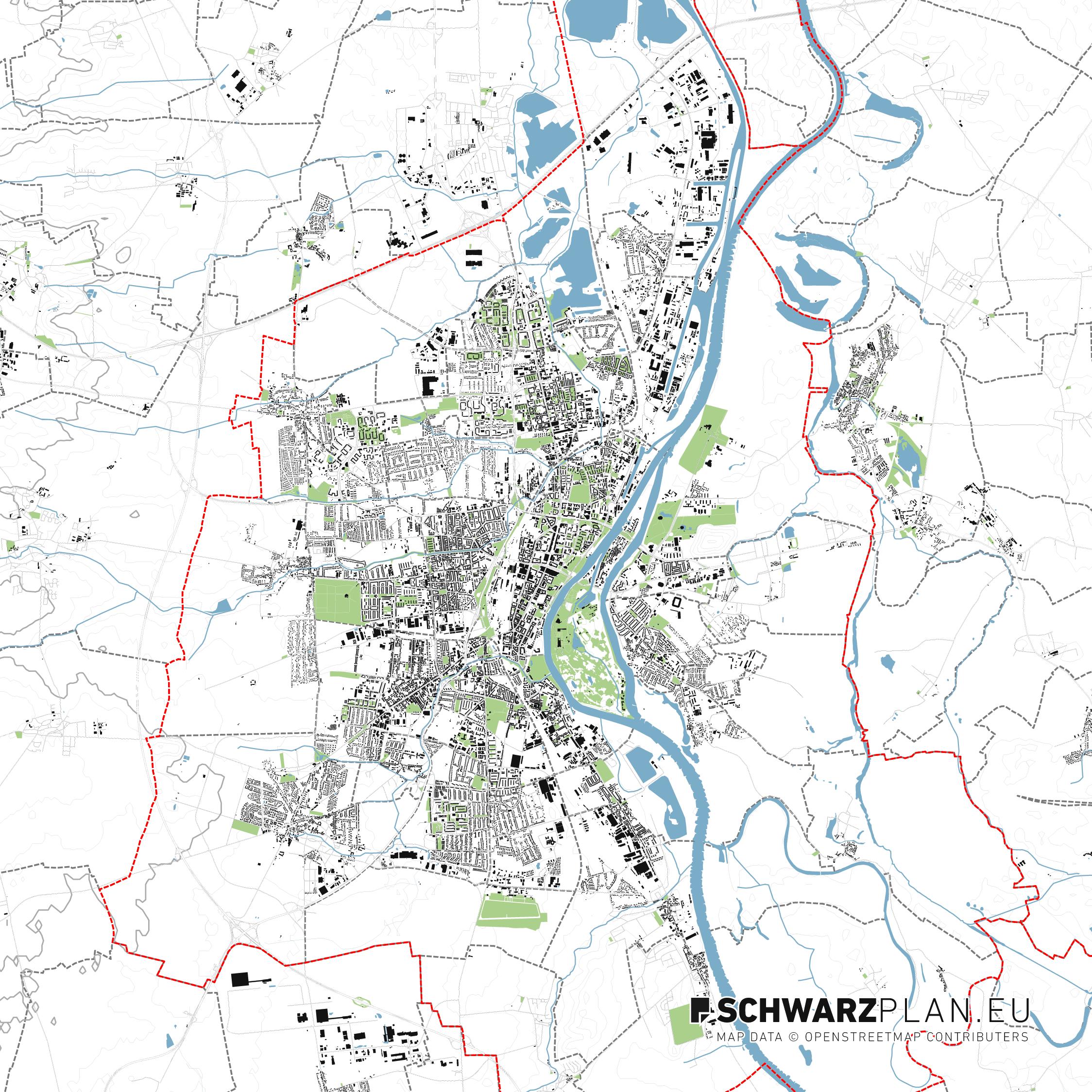 Lageplan von Magdeburg