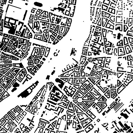 München Karte Schwarz Weiß.München
