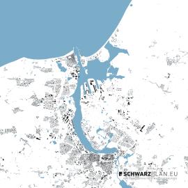 Lageplan von Rostock