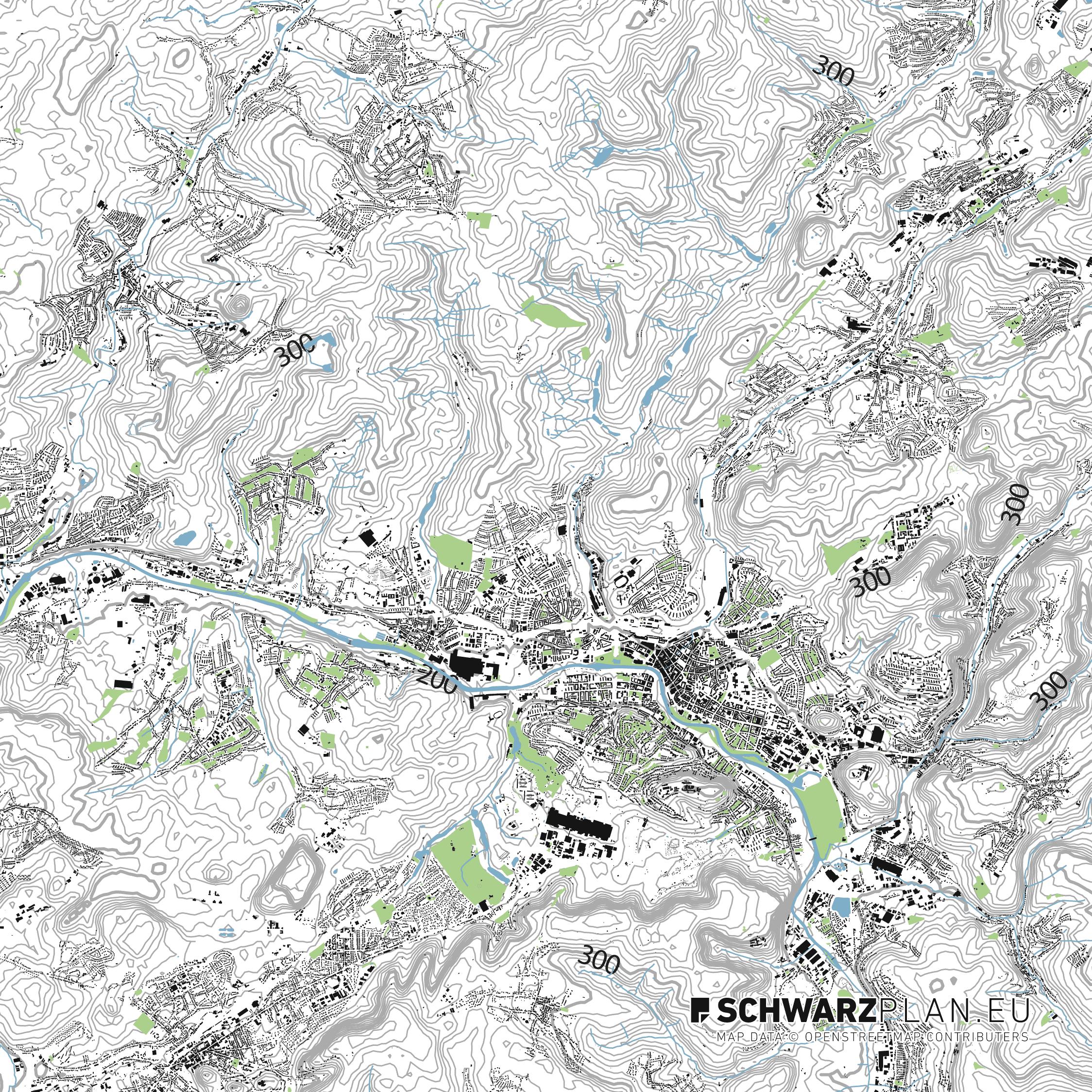 Lageplan von Saarbrücken