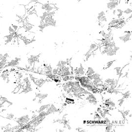 Schwarzplan von Saarbrücken