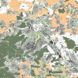 Lageplan von Stuttgart