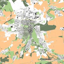 Lageplan von Weimar