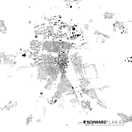 Schwarzplan von Weimar