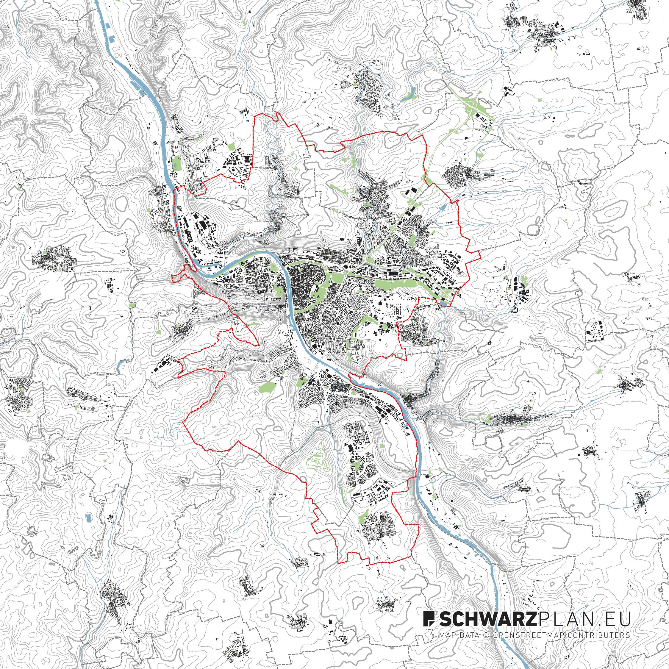 Lageplan von Würzburg
