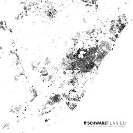 Schwarzplan von Barcelona