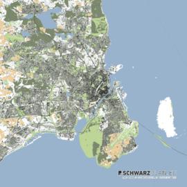 Lageplan von Kopenhagen in Dänemark