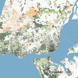 Lageplan von Lissabon in Portugal