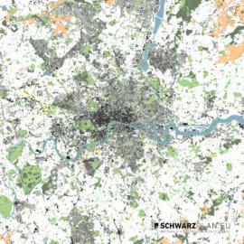 Lageplan von London in Groß Britannien