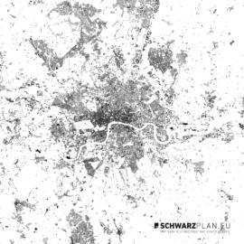 Schwarzplan von London