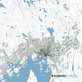 Lageplan von Oslo
