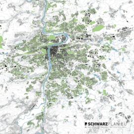 Lageplan von Prag