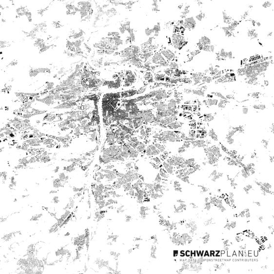Schwarzplan von Prag