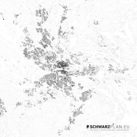 Schwarzplan von Stockholm