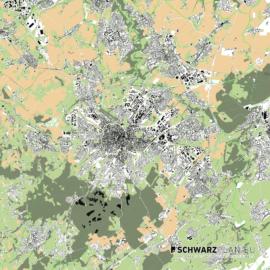 Lageplan von Aachen
