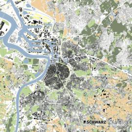Lageplan von Antwerpen