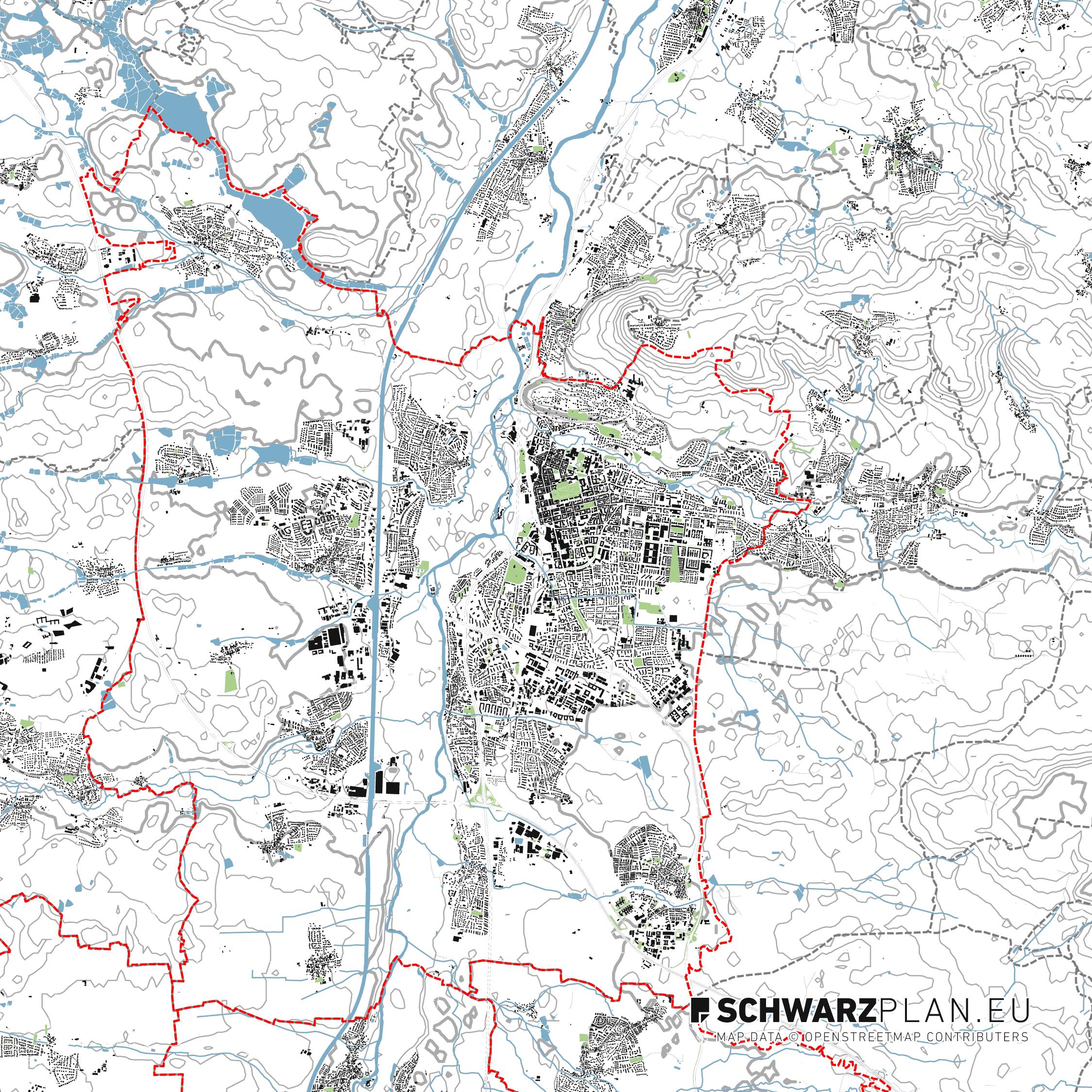 Site Plan of Erlangen