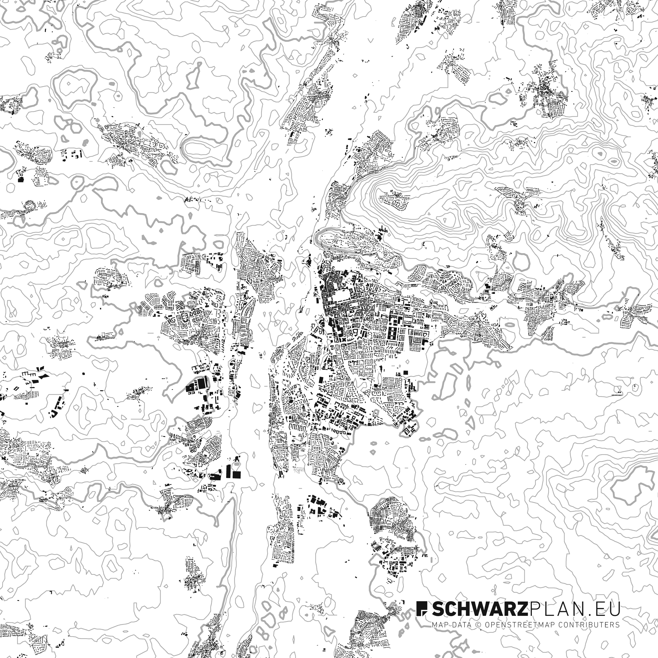 Figure Ground Plan of Erlangen