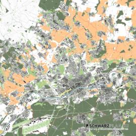 Lageplan von Frankfurt am Main