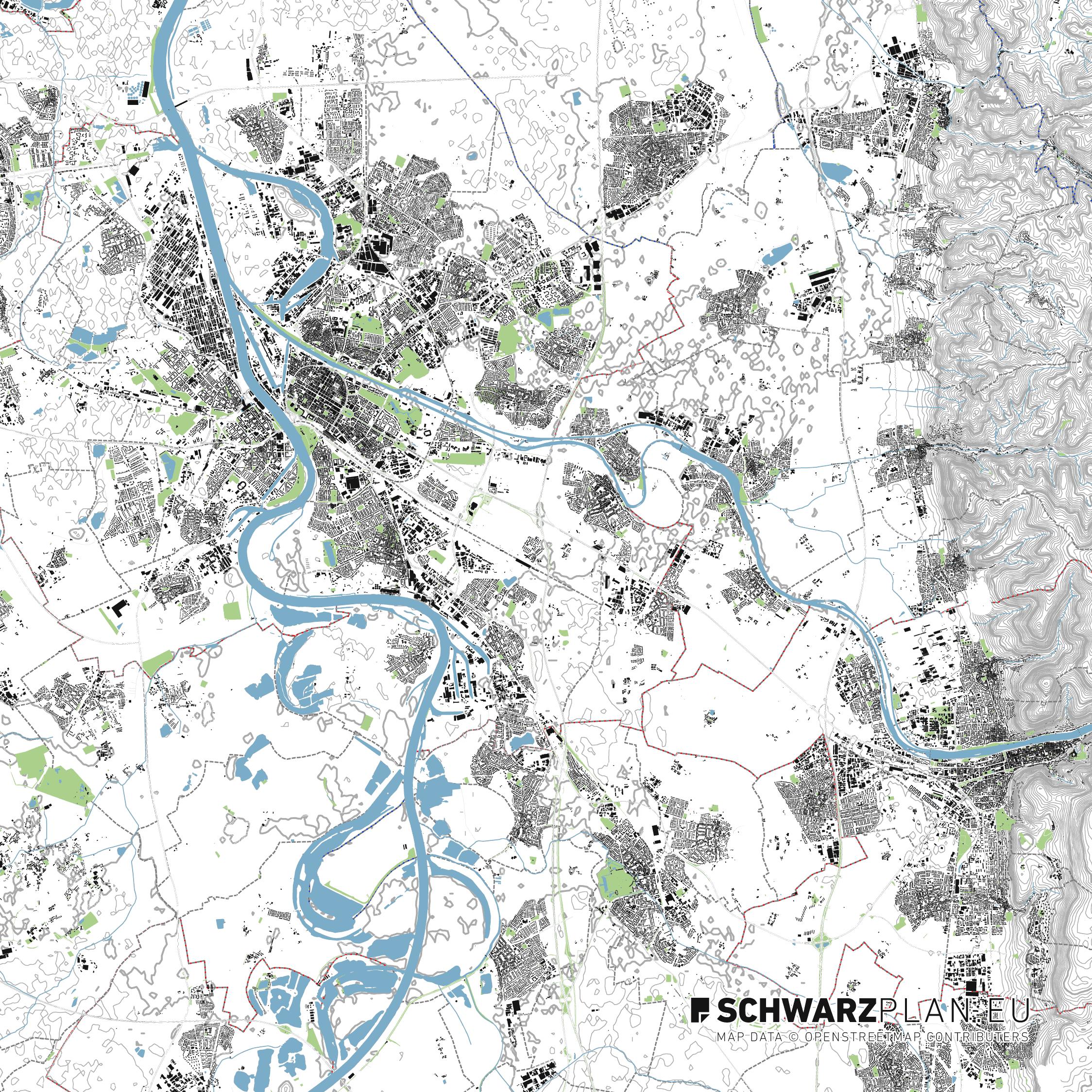 Lageplan von Heidelberg
