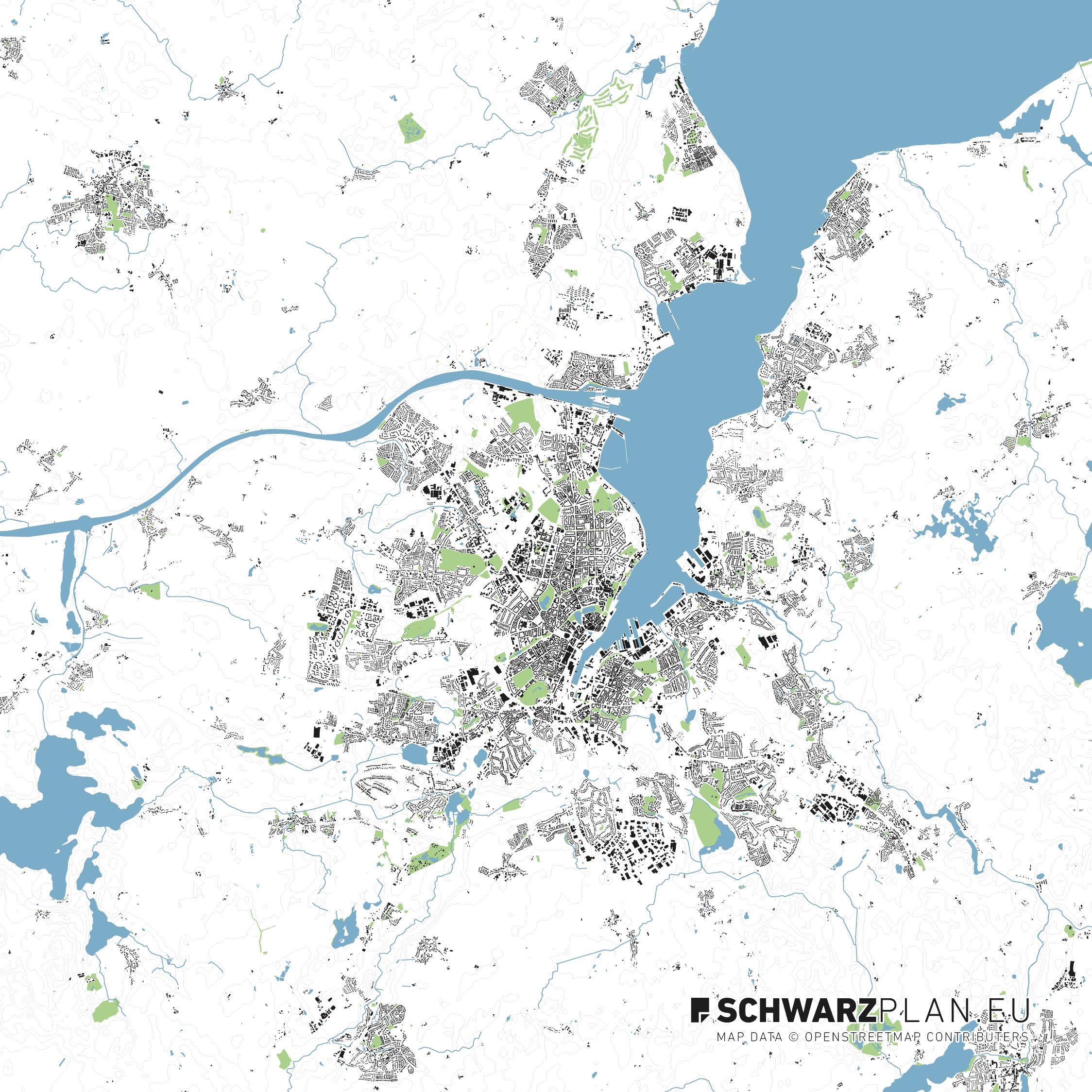 Lageplan von Kiel