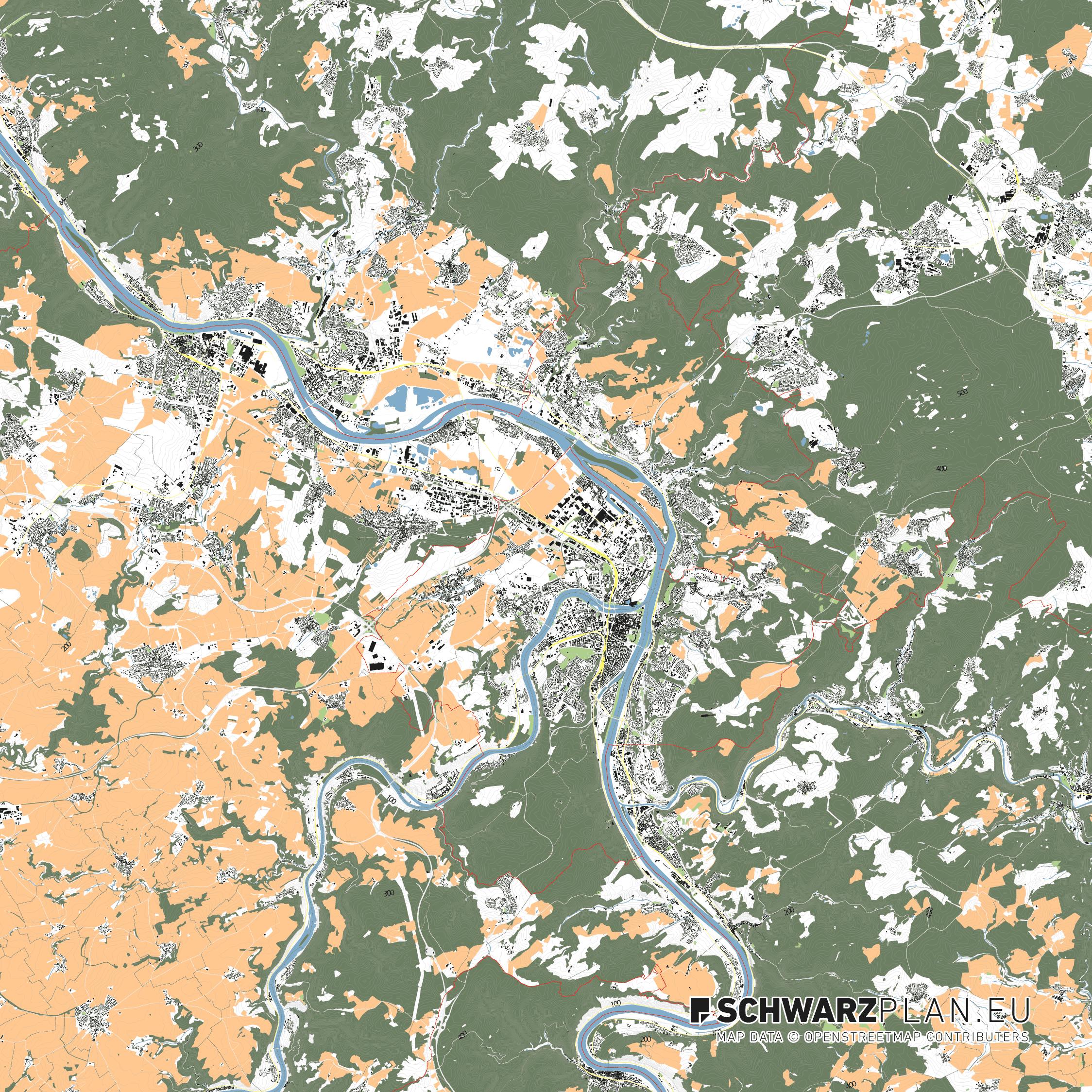 Lageplan von Koblenz