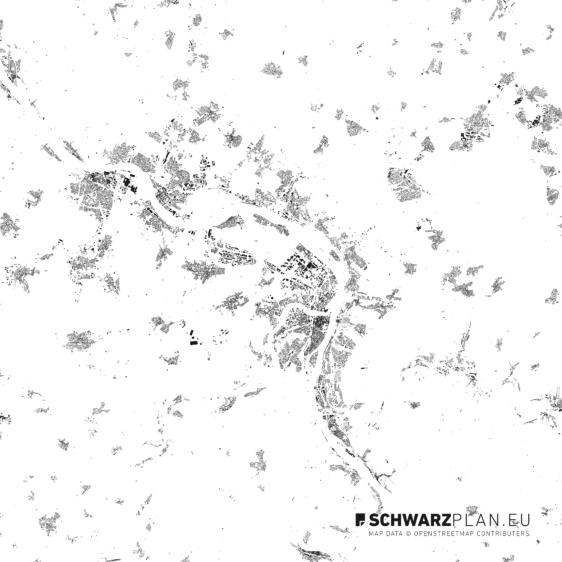 Schwarzplan von Koblenz