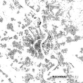 Schwarzplan von Köln