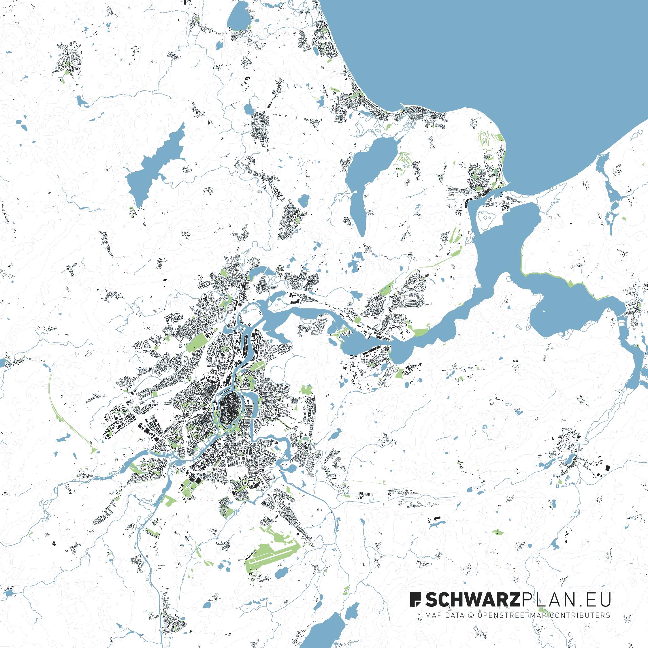 Lageplan von Lübeck