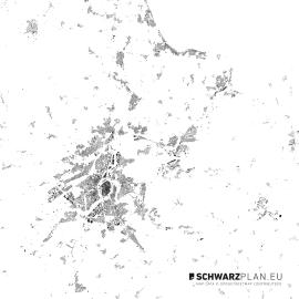 Schwarzplan von Lübeck