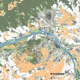 Lageplan von Mainz & Wiesbaden