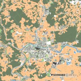 Lageplan von Regensburg