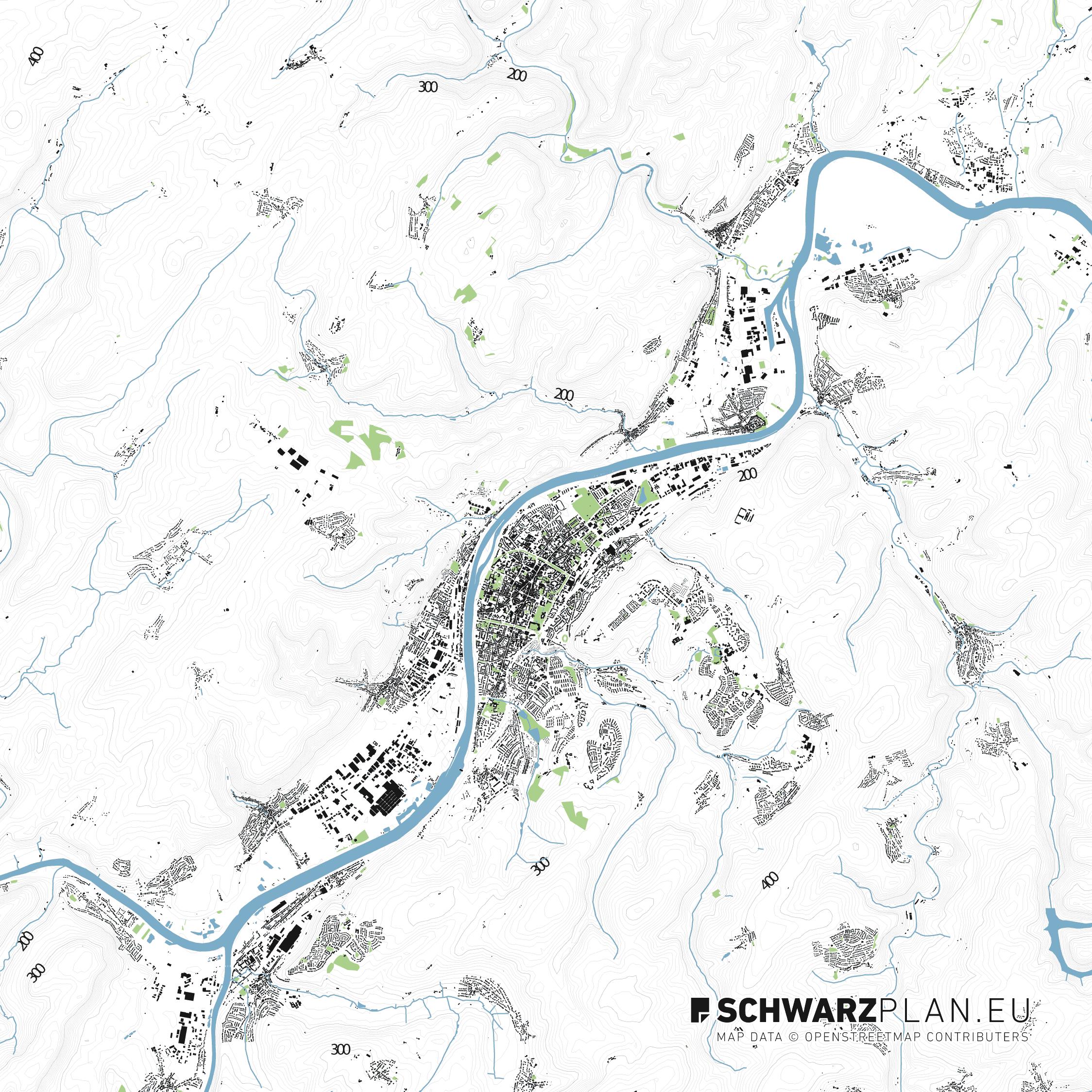 Lageplan von Trier