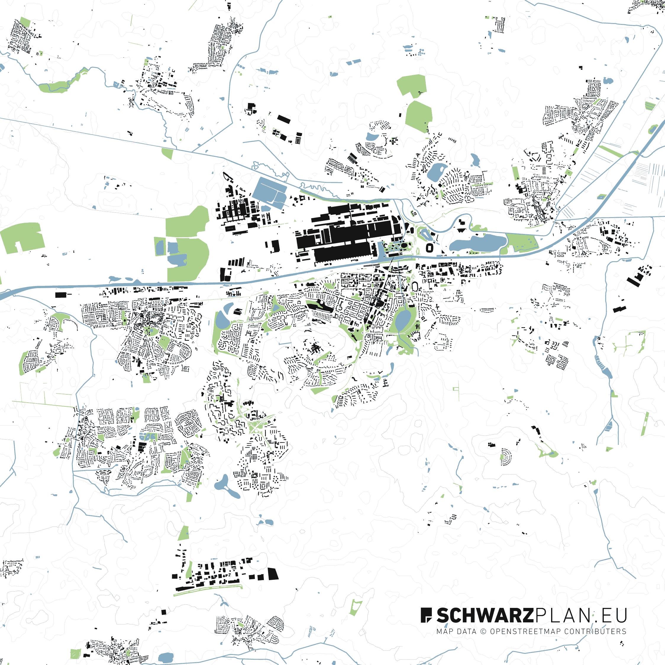 Lageplan von Wolfsburg