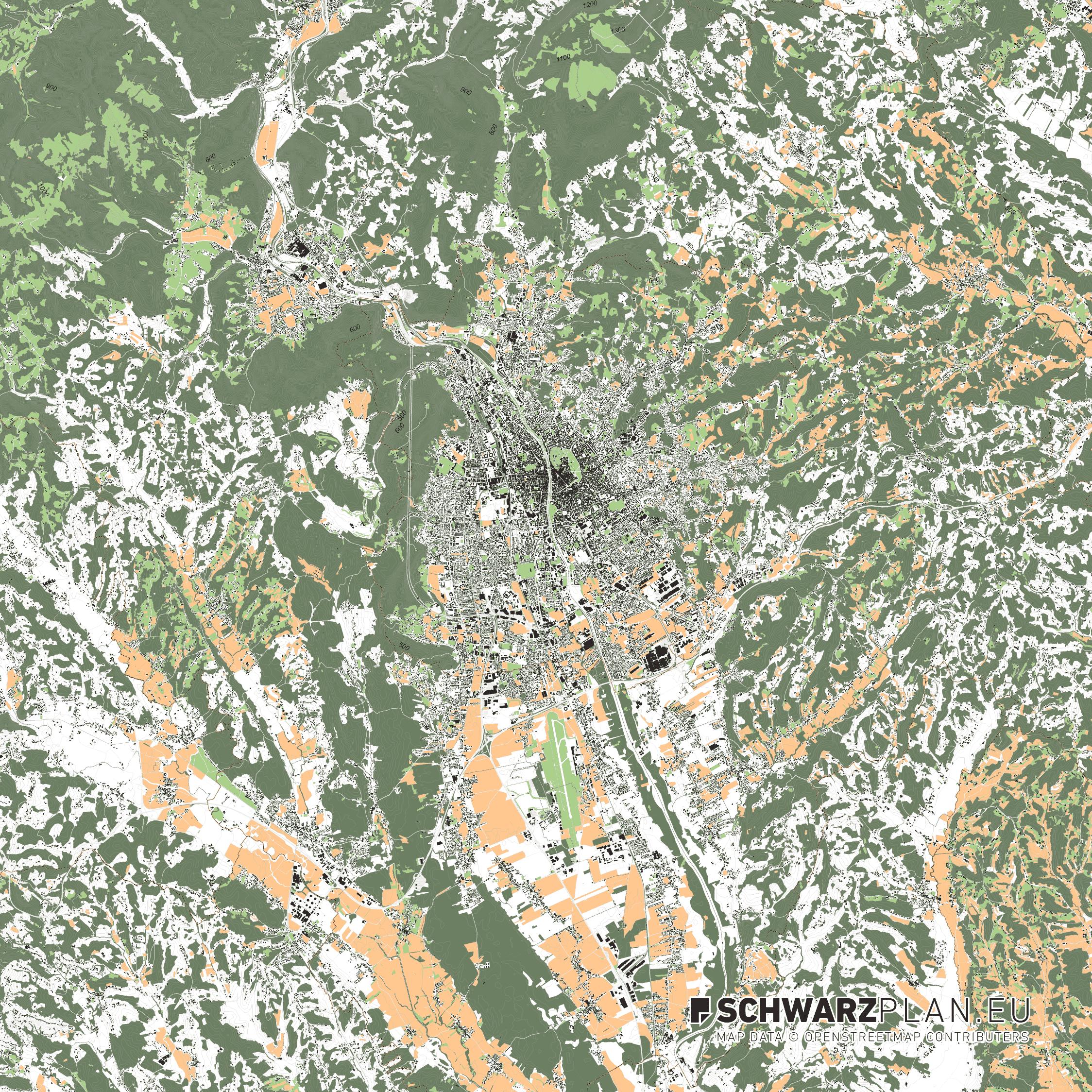 Lageplan von Graz