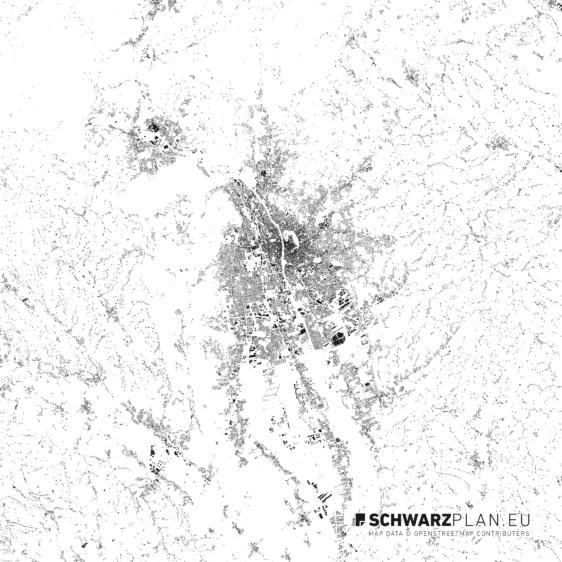 Schwarzplan von Graz