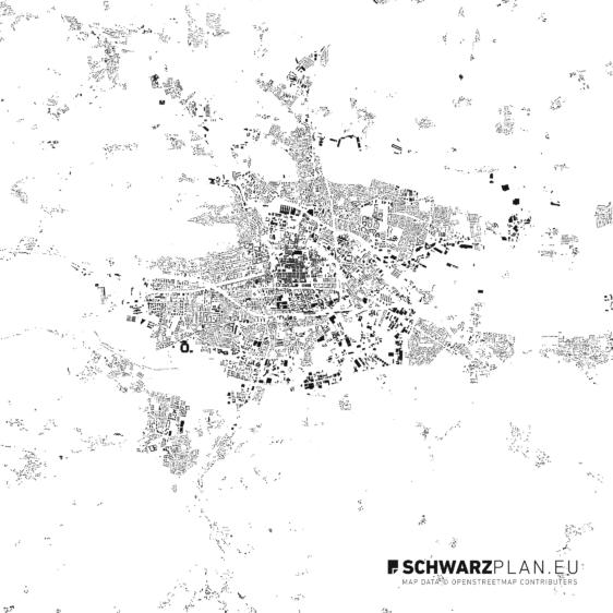 Schwarzplan von Klagenfurt, Velden am Wörthersee