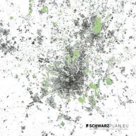 Lageplan von Mailand in Italien
