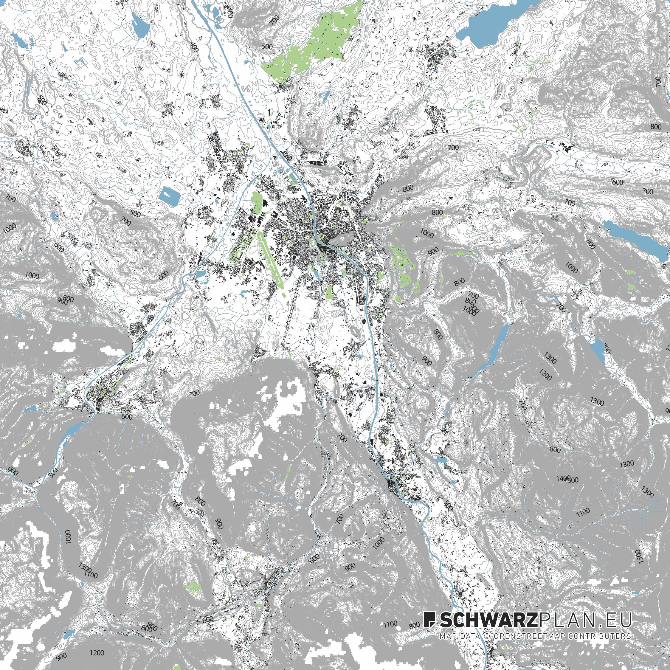 Lageplan von Salzburg
