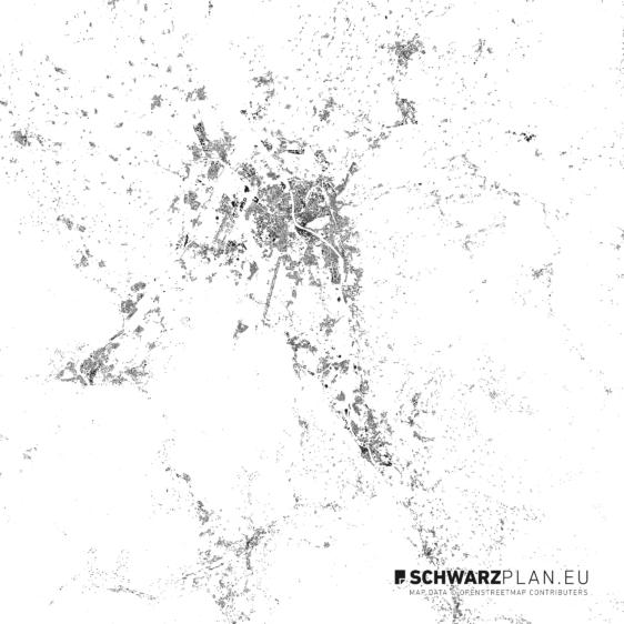 Schwarzplan von Salzburg